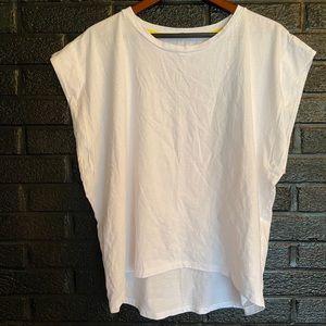 Zara White Over sized tshirt size medium